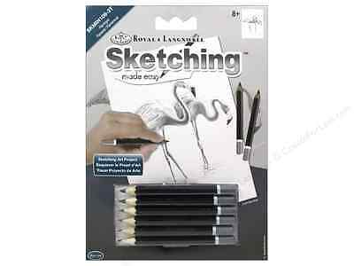 Mini Sketching Made Easy - Royal Langnickel Pencil Drawing Kit - Flamingoes