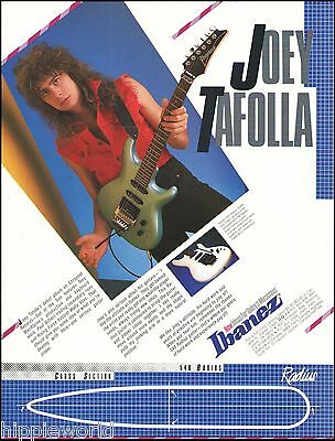 Joey Tafolla 1987 Ibanez 540 Radius electric guitar ad 8 x 11 advertisement