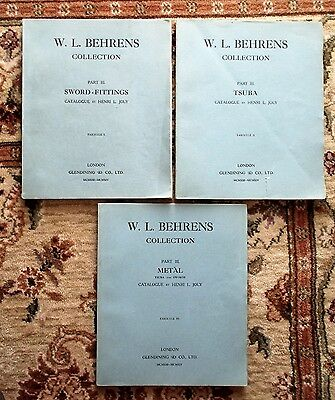 W.L. BEHRENS COLLECTION Part III SWORD FITTINGS, TSUBA, METAL 1913 1st Ed. 1/100