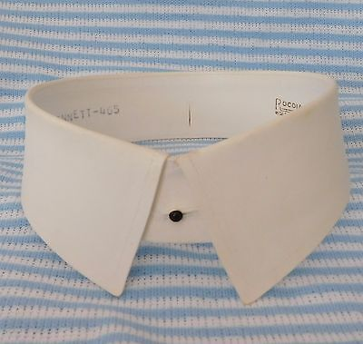 Vintage golf shirt collar size 16 1920s 1930s starched Rocola Newquay detachable