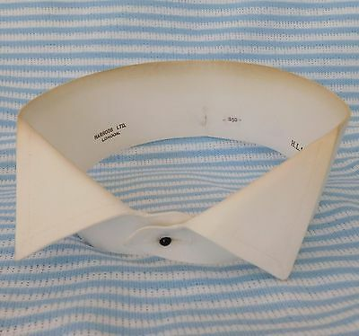 "Vintage Harrods wing collar 16"" Starched stiff for tunic shirt 1920s dress wear"