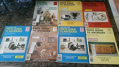 The Antique Trader Price Guide to Antiques and Collectors' Items lot of 7  1990