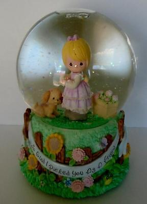 Precious Moments Friendship Musical Waterball Snow Globe Friends Music Box