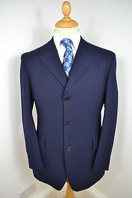 VINTAGE 1970's BLUE BURTON DIRECTORS 2 PIECE WOOL SUIT WAISTCOAT MEDIUM 40 REG
