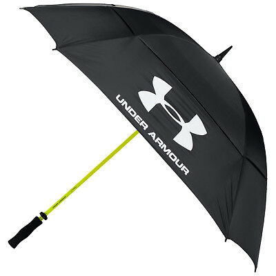 "2017 Under Armour 68"" Double Canopy Umbrella -New Golf Large Windproof Brolly XL"