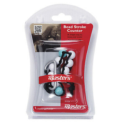 Masters Bead Stroke Counter - New Golf Carabiner Clip Shot Scoring