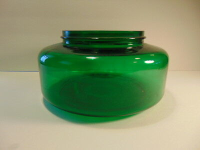 "Older green glass ""fish bowl"", possibly atomizer or mister tank or bowl"