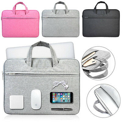 """Nylon Handle Carry Pouch Laptop Sleeve Bag Case For 11.6"""" 13"""" 14"""" 15"""" Notebook"""