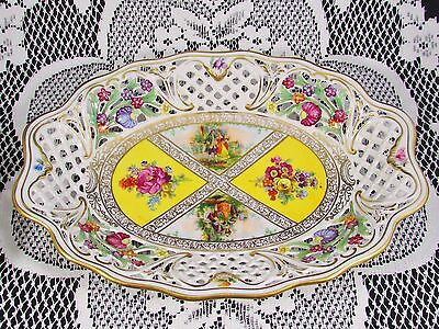 Schumann Arzberg Courting Couple Floral Reticulated Display Dish