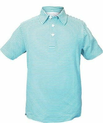 "GARB FOSTER Boys SHORT SLEEVE POLO ""LOT of 20 Polo's ~ L"" Blue Grotto NEW $880"