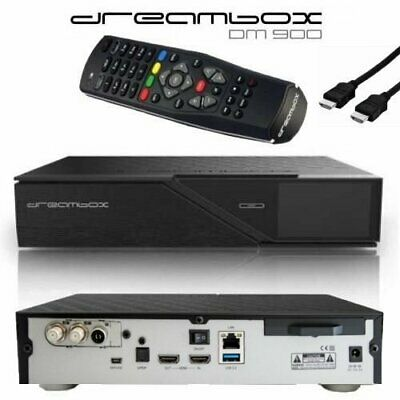 Dreambox DM900 UHD 4K Linux E2 2x DVB-S2X 1x DVB-C/T2 Multistream Triple Tuner