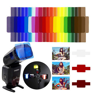 20Pcs Flash Speedlite Color Gel Filters for Nikon Sony Canon Yongnuo DSLR Camera