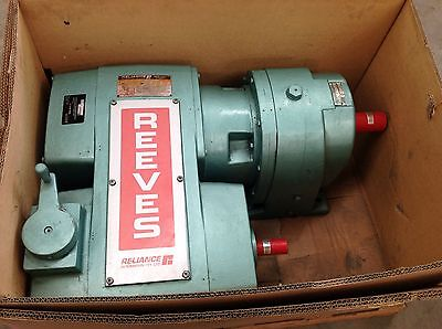 REEVES VARIABLE DRIVE REDUCTION gear BOX 18252- RELIANCE REEVES MOTORDRIVE 40ET