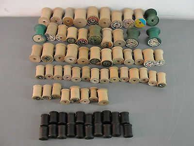 Sewing Thread Hand Machine Wood Empty Spool Star Jp Coats Belding Vintage Lot 75