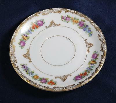 ROYAL BAYREUTH DRESDEN FLOWERS SAUCER for COFFEE OR TEA CUP