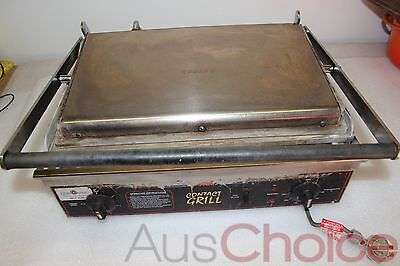 Roband Commercial Contact Sandwich Toaster Flat Grill Press w Timer