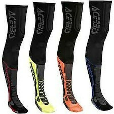 New Acerbis X Leg Mx Motocross Enduro Over Knee Brace Guard Socks Mx Quad