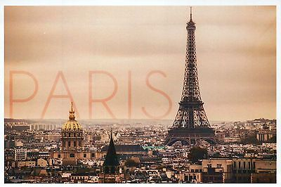 Paris France, City of Lights Aerial View & Eiffel Tower, Europe, Modern Postcard