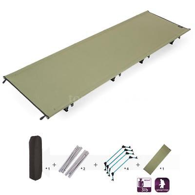 Portable Ultralight Outdoor Folding Camping Sleeping Bed Cot Military New Y2D8