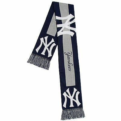New York Yankees Scarf Knit Winter Neck - Double Sided Big Team Logo New 2016