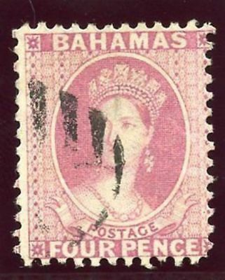 Bahamas 1882 QV 4d rose very fine used. SG 41. Sc 25.