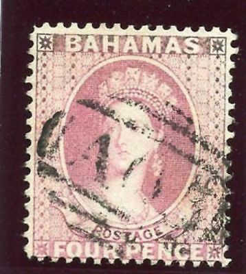 Bahamas 1882 QV 4d rose very fine used. SG 43. Sc 21.