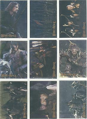 Lord Of The Rings TTT Complete German Prismatic Foil Chase Card Set 1-10