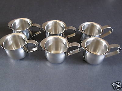 6  Espresso Pitchers - 3 Oz Bell Creamer S/s Free Shipping Us Only