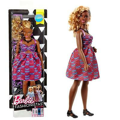 Barbie - Fashionistas 50 - Curvy - Doll in Dress with Tribal Pattern