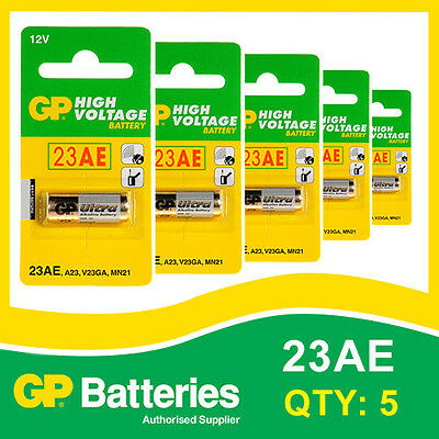 GP Alkaline High Voltage 23AE (MN21) Battery card of 5 [ENTRY REMOTES, TOYS]