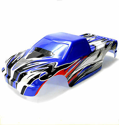 BSP-BNT-3 1/10 1/8 Scale RC Nitro Monster Truck Body Shell Cover Blue