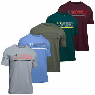Under Armour 2017 Mens Shield Wordmark Lock Up Short Sleeve T Shirt Training Top