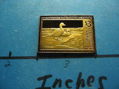Old Squaw Ducks 1967-1968 Migratory Stamp Commemorative Mini Silver Gold Bar #B