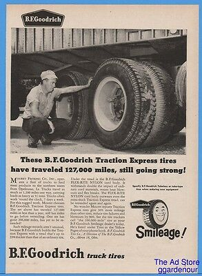1959 BF Goodrich Traction Express Tires Mouret Packing Opelousas LA Print Ad
