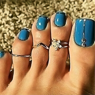 CH Various Celebrity Fashion Carving Toe Ring Adjustable Foot Ring Beach Jewelry