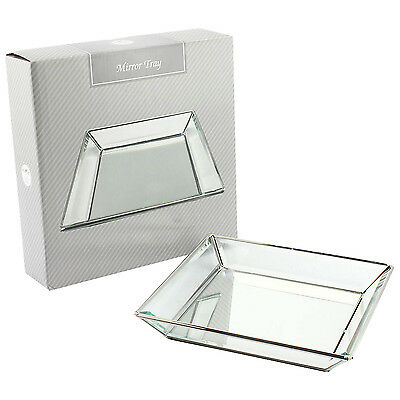 Mirror Glass Square Afternoon Tea Food Snack Breakfast Dinner Lunch Serving Tray