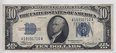 United States 1934 $10 Silver Certificate Note FR#1701 A18996710A