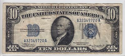 United States 1934 $10 Silver Certificate Note FR#1701 A32349720A