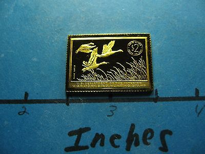 Blue Geese 1955-1956 Migratory Stamp Commemorative Mini Silver Gold Bar #b