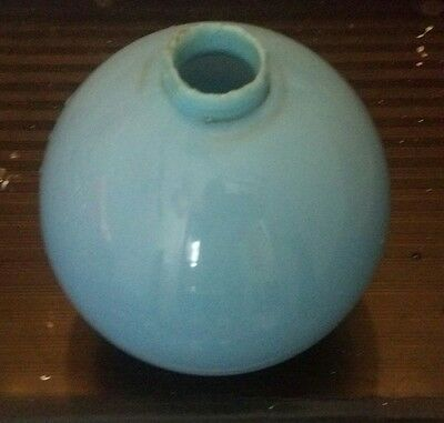 "Blue Milk Glass Lightning Rod Ball 4.5"" Diameter Cabin Home Farm Garden Decor"