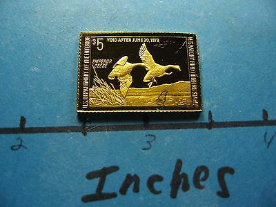 Emperor Geese 1972-1973 Migratory Stamp Commemorative Mini Silver Gold Bar #b