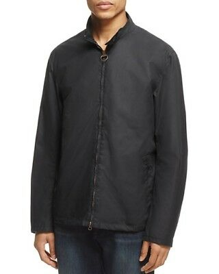 Barbour Men's Black Brompton Waxed Cotton Jacket $349