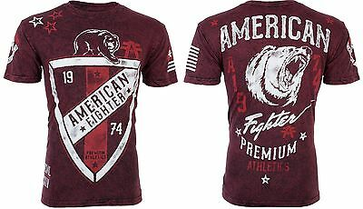 AMERICAN FIGHTER Mens T-Shirt CINCINNATI Bear BLACK BURG Athletic Biker UFC $40