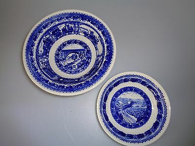 Shenango Syracuse China Baltimore Ohio Railroad - Cereal Soup Fruit Bowls