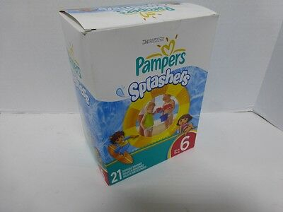 Pampers Splashers Swim Diapers, Size 6, 21 count  Pampers FREE SHIPPING !!!!!