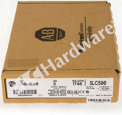 New Sealed Allen Bradley 1746-OW16 Series D SLC 500 16-Ch Relay Output Qty