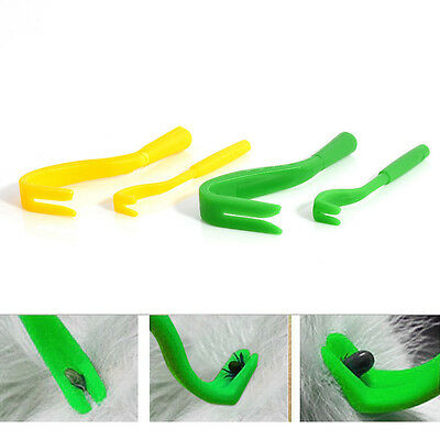 Useful 2Pc New Pack x 2 Sizes Tick Remover Hook Tool Cat/Dog/Pet/Horse/Human LU