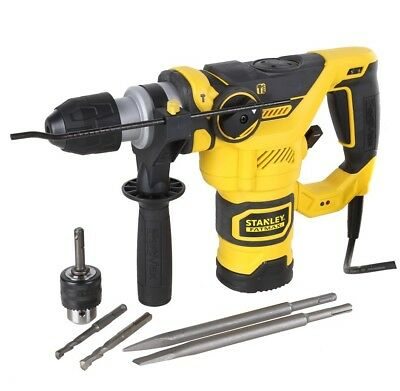 NEW STANLEY FatMax 1250W SDS+ 3 Mode Rotary Hammer Drill & Carry Case