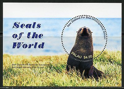 Palau 2017  Seals Of The World  Souvenir Sheet  Mint Nh