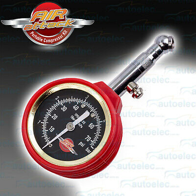 Air Attack 4X4 4Wd Tyre Tire 50Mm Dial Pressure Guage Measure Tool New 65Aaptg